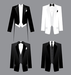 Mens dress code vector