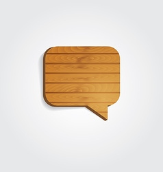 Wooden speech bubbles vector