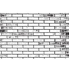 Decorative brickwall silhouette vector
