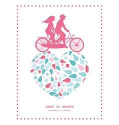 Abstract colorful drops couple on tandem vector