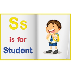 A picture of a student in a book vector