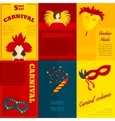 Carnival icons composition poster vector