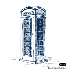 London pay phone vector