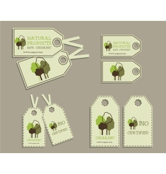 Set of organic labels for natural products vector