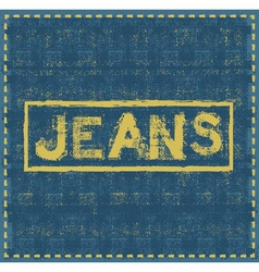 Jeans grunge background design template vector