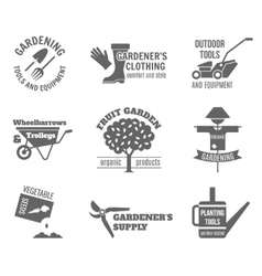 Garden label set vector