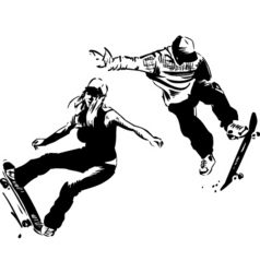 Skaters design vector