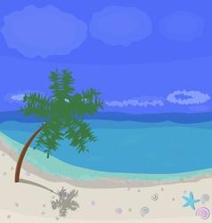 Sunny beach vector