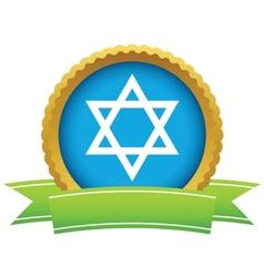 Gold judaism logo vector