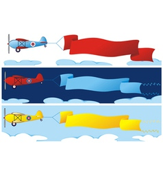Plane banners vector