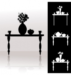 Tea table vector