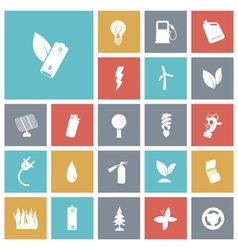 Flat design icons for energy and ecology vector