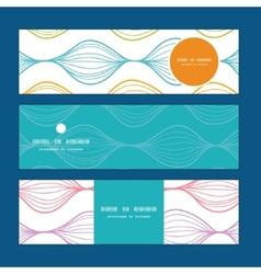Colorful horizontal ogee horizontal banners vector