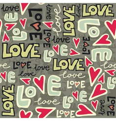 Love typography pattern vector