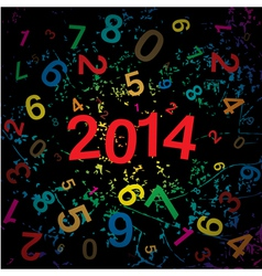New 2014 year with digits background vector