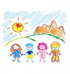 Children sketch vector