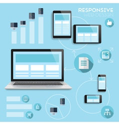 Responsive web-design infographics concept vector