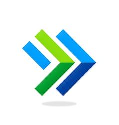 Arrow direction right line logo vector