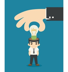 Businessman make idea vector