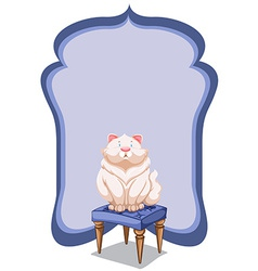 Empty template at the back of a cat vector