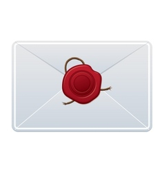 Envelope with wax seal vector