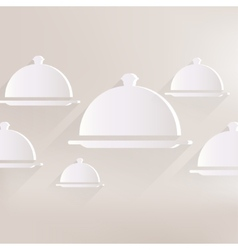 Restaurant cloche icon vector
