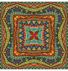 Ethnic square background vector