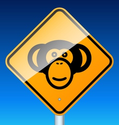 Monkey on road vector