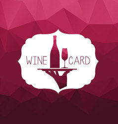 Wine card wine tray vector