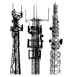 Mobile phone masts vector