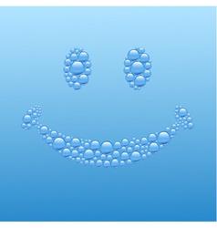Bubble smiley vector