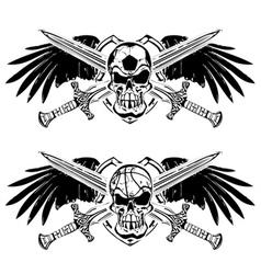 Soccer basketball skulls vector