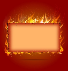 Frame with fire vector