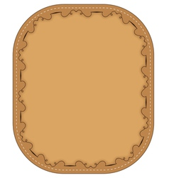 Brown frame with pattern vector