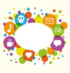 Social network internet chat community comm vector