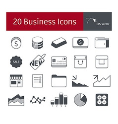 20 business icons vector