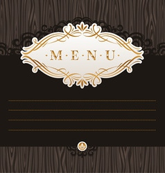 Menu with calligraphic frame vector