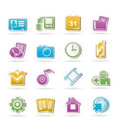Mobile phone menu icons vector
