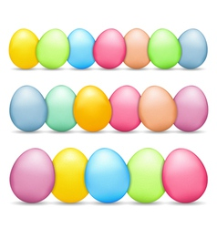 Colored easter eggs vector