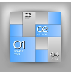 Business squares blue with text vector
