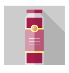 Color flat bottle template vector