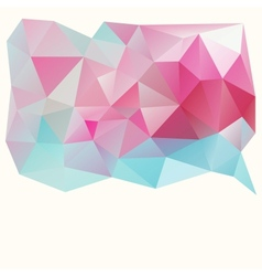 Triangle pattern background vector