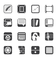 Business and mobile phone icons vector