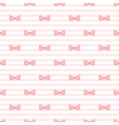 Pink bow and stripes pattern or tile background vector