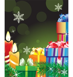 Magic green christmas background vector