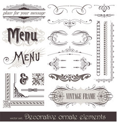 Vintage filigree elements vector