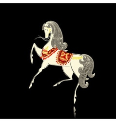 Khokhloma pattern horse vector