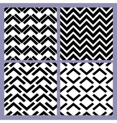 Geometric seamless pattern set retro vintage vector