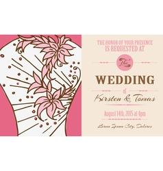 Wedding vintage invitation card vector