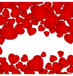 Festive background with red hearts vector